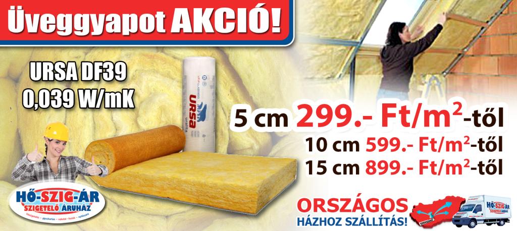 Üveggyapot_UrsaDF39_Akció_HŐ-SZIG-ÁR