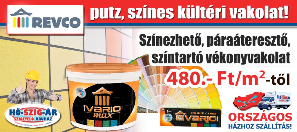 Revco putz szines kulteri vakolat_Akció_HŐ-SZIG-ÁR